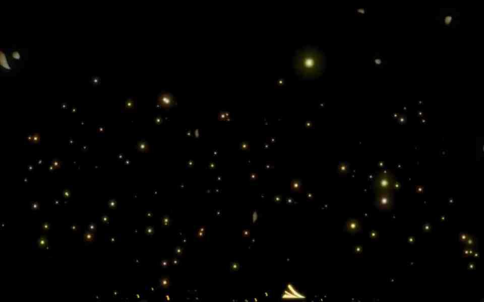 高清唯美爱心荧光树(有音乐)动态壁纸