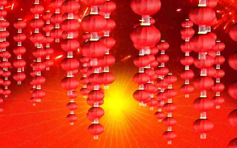 高清喜庆新年红灯笼串动态动态壁纸